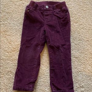 Girls Straight Lined Corduroy Pants